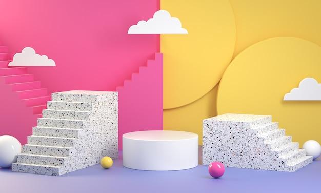 Kolorowy wyświetlacz abstrakcyjne renderowanie 3d