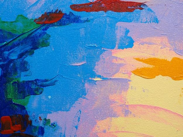 Kolorowych słodkich kolorów tła abstrakcjonistyczna nafciana farba.