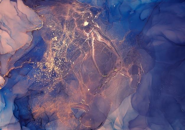 Kolory tuszu alkoholowego są przezroczyste. streszczenie wielobarwny marmur tekstura tło. projekt papieru do pakowania, tapety. mieszanie farb akrylowych. nowoczesna sztuka płynna. wzór atramentu alkoholowego