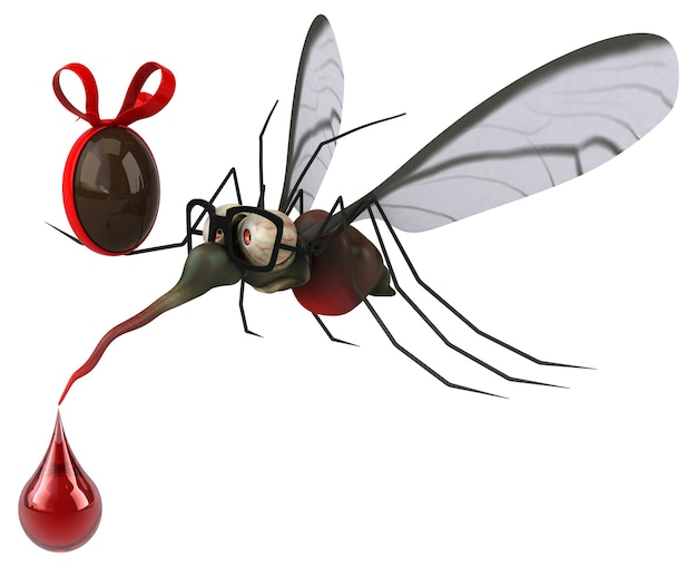 Komar - ilustracja 3d