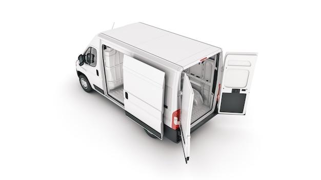 Komercyjne samochody dostawcze firma świadcząca usługi transportowe renderowania 3d
