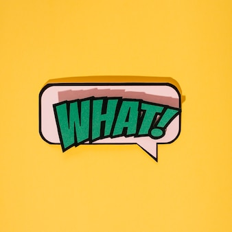 Komiks styl co wyrażenie tekst na żółtym tle