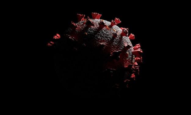 Komórki koronawirusa lub cząsteczka bakterii