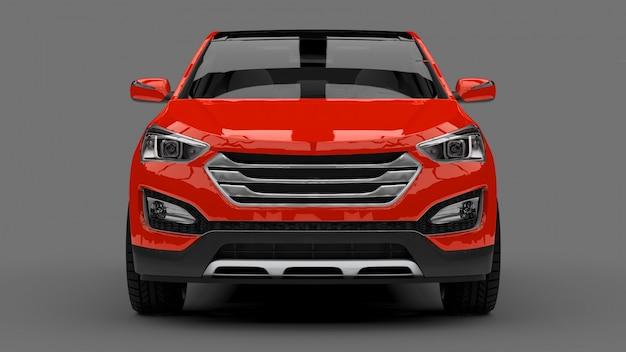 Kompaktowy miejski crossover czerwony samochód