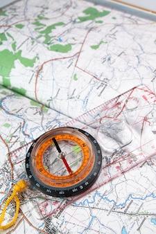 Kompas i mapa