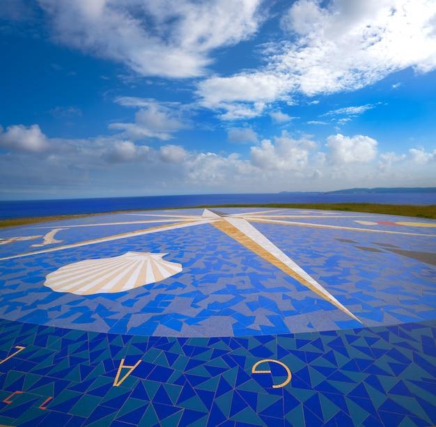 Kompas mozaiki la coruna wieża herkulesa galicja