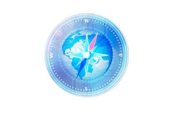 Kompas niebieski.