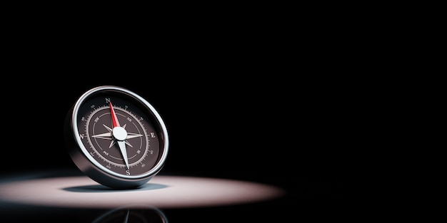 Kompas w centrum uwagi na białym tle