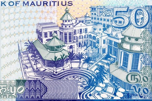 Kompleks Budynków Le Caudan Za Pieniądze Mauritiusa Premium Zdjęcia