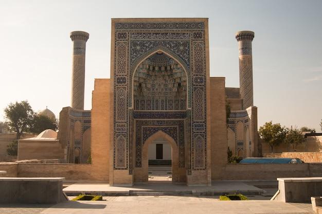Kompleks guremira władcy azji emira timura w samarkandzie uzbekistan architektura azji