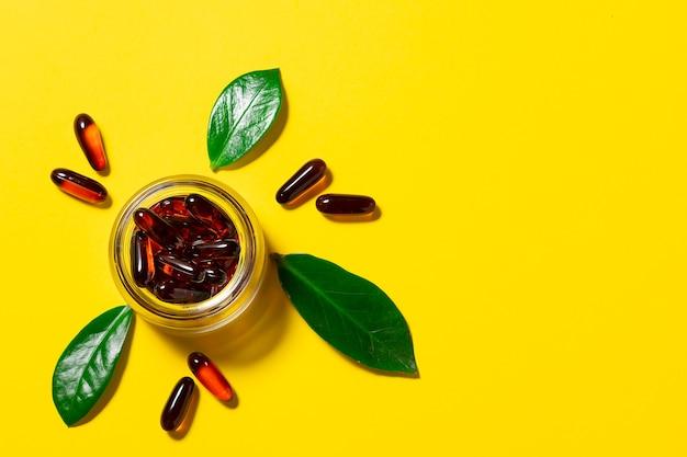 Kompleks olejków omega dla wegan w szklanym słoiczku