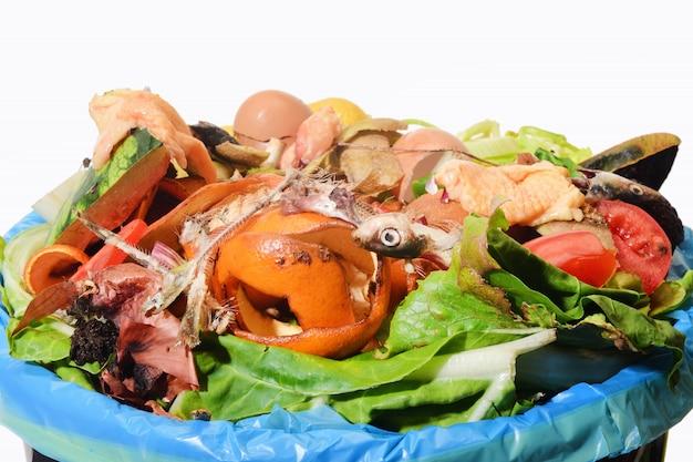 Kompost na białym bacground
