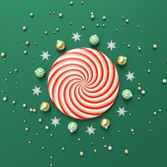 Kompozycja abstrakcyjna 3d z geometrycznym kształtem do wyświetlania produktów. zimowe tło boże narodzenie.