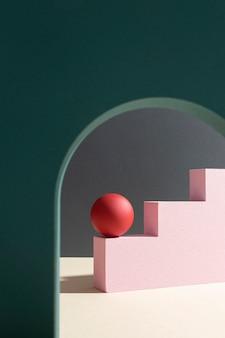 Kompozycja abstrakcyjnych elementów projektu 3d