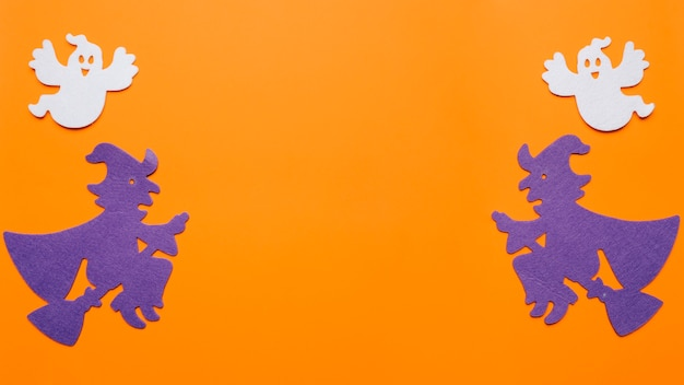 Kompozycja czarownic i duchów na noc halloween