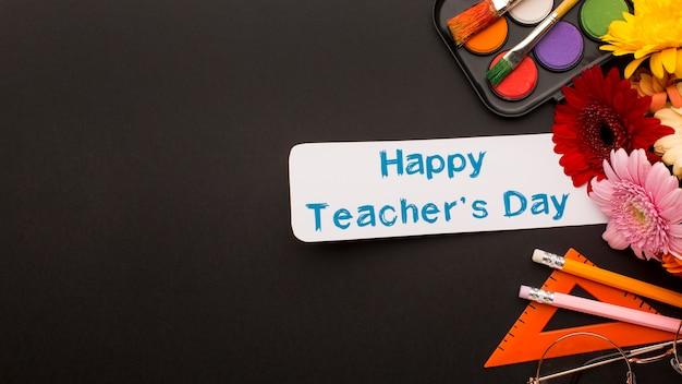 Kompozycja elementów dnia nauczyciela