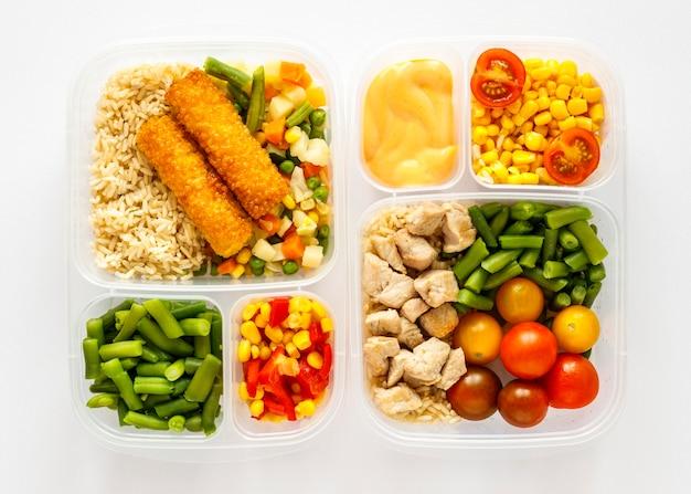 Kompozycja gotowanej partii żywności