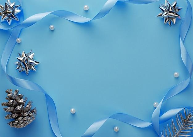 Kompozycja kadru boże narodzenie lub nowy rok.