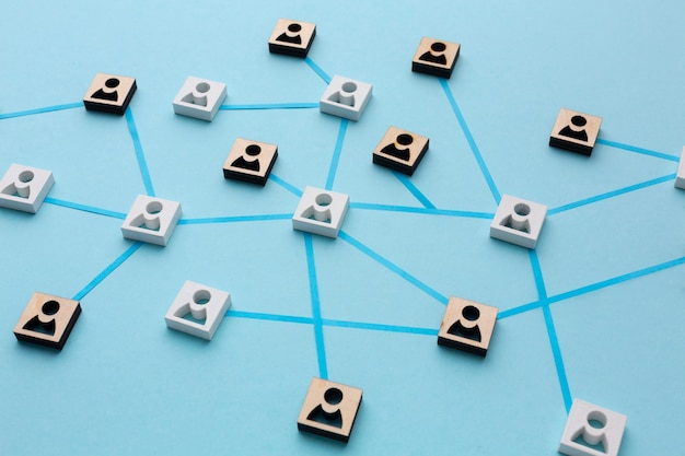 Kompozycja martwej natury koncepcji sieci