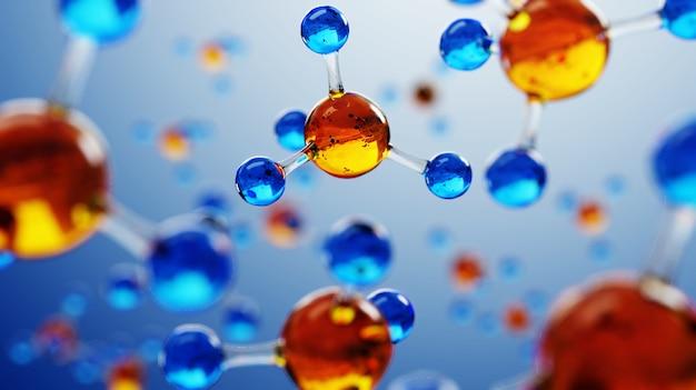 Kompozycja naukowa z cząsteczkami i atomami