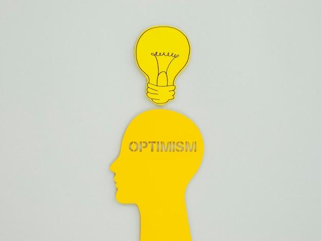 Kompozycja płaska świeckich elementów koncepcji optymizmu