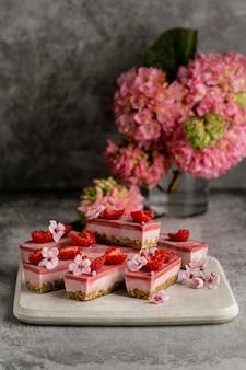 Kompozycja pysznych słodkich smakołyków