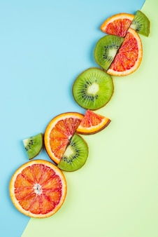 Kompozycja pysznych świeżych owoców