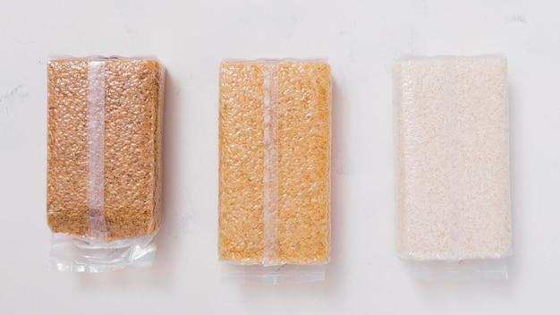 Kompozycja ryżu płaskiego