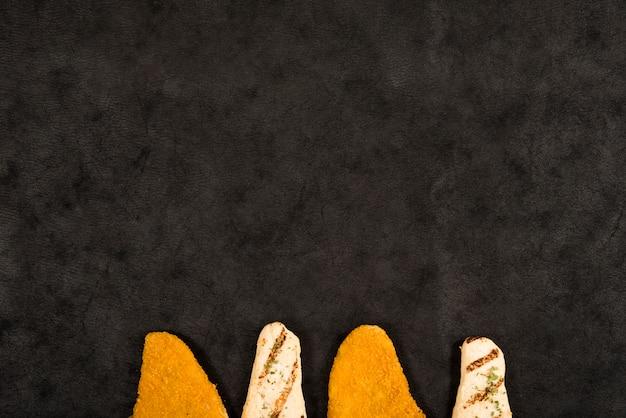 Kompozycja smacznych bryłek kurczaka