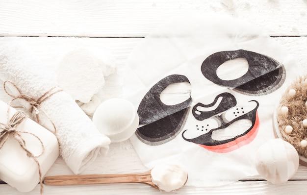 Kompozycja spa z maską na twarz