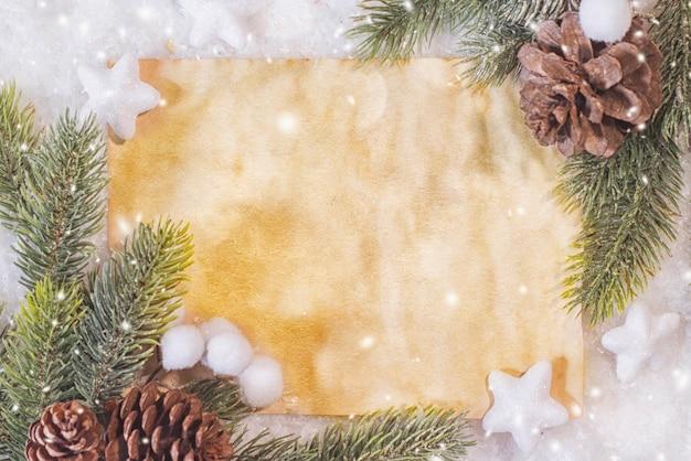 Kompozycja świąteczna. widok z góry, leżał płasko, kopia przestrzeń.