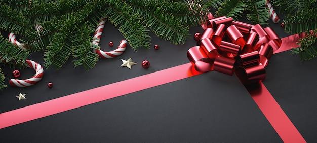 Kompozycja świąteczna z elementami świątecznymi.