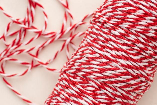 Kompozycja tekstury liny z widokiem z góry