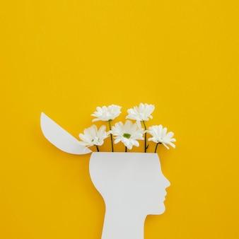 Kompozycja z pięknych kwitnących kwiatów