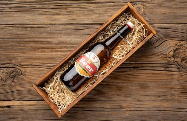 Kompozycja z smacznym amerykańskim piwem