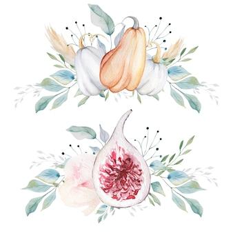Kompozycje z dyni i fig