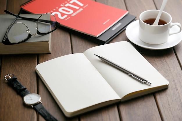 Komputer biurowy notebooka soho kawy