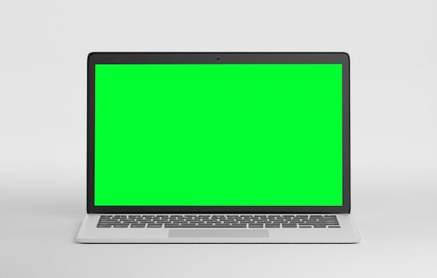 Komputer na białym tle z cienia