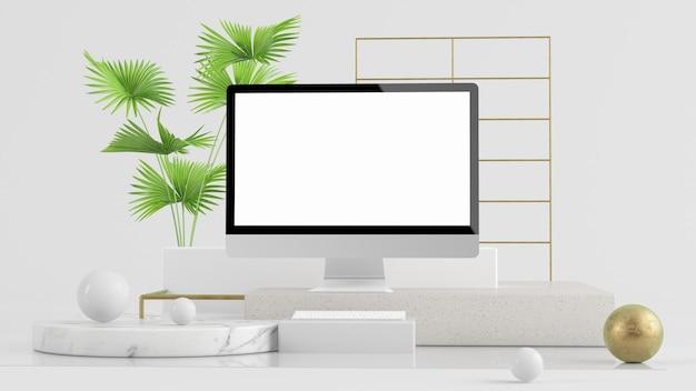 Komputer na renderowania 3d nowoczesne abstrakcyjne tło