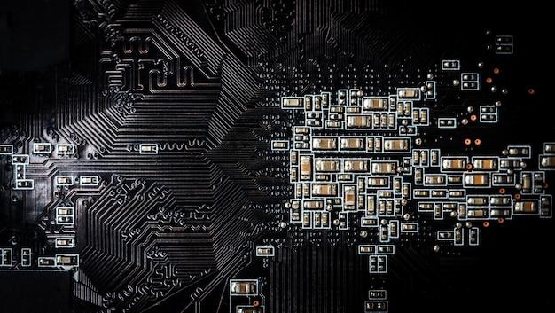 Komputer, tło obwodu elektronicznego