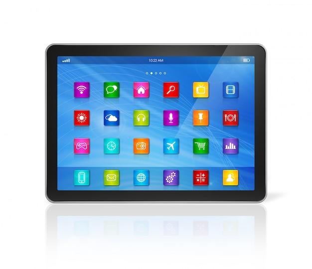Komputer typu tablet - interfejs ikon aplikacji