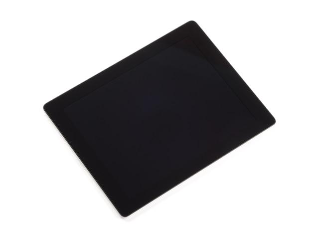 Komputer typu tablet na białym tle