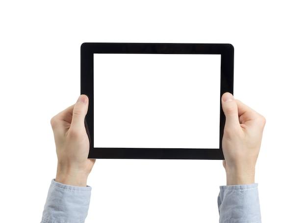 Komputer typu tablet. pojedynczo na białym tle.