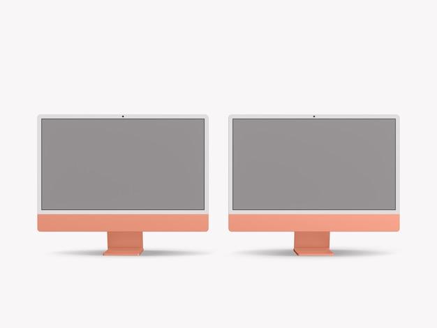 Komputer z pustym ekranem