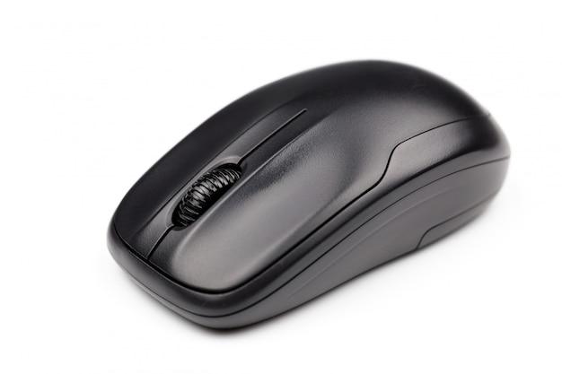 Komputerowa bezprzewodowa mysz odizolowywająca na białym tle dla biznesu, edukacja, technologia
