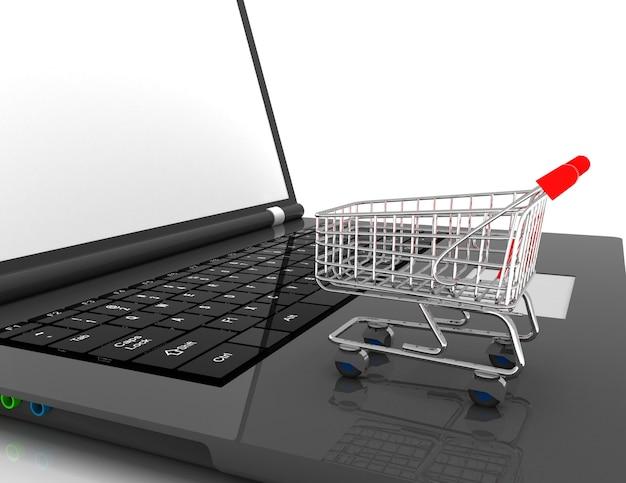 Koncepcja 3d zakupów online