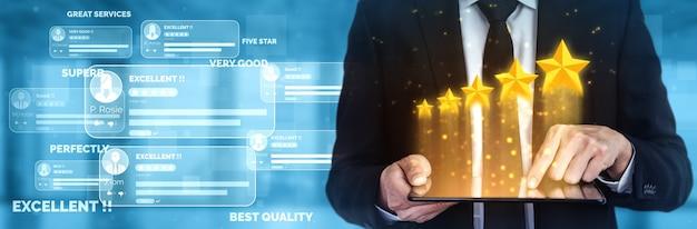 Koncepcja Ankiety Dotyczącej Oceny Satysfakcji Klienta. Premium Zdjęcia