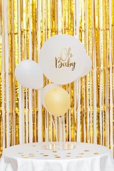 Koncepcja baby shower z balonów