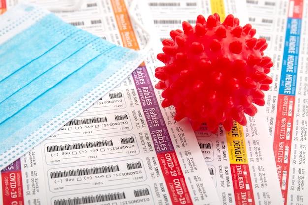 Koncepcja badania krwi wirusa laboratoryjnego