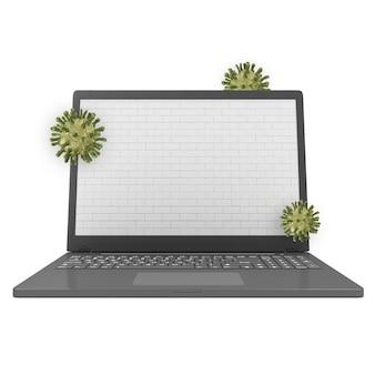 Koncepcja bezpieczeństwa i ochrony laptopa